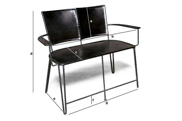 Productafmetingen Italia tweezits fauteuil