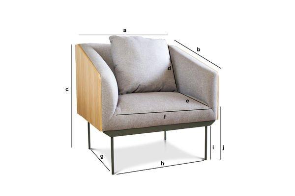Productafmetingen Jackson fauteuil