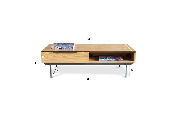 Productafmetingen Jackson salontafel