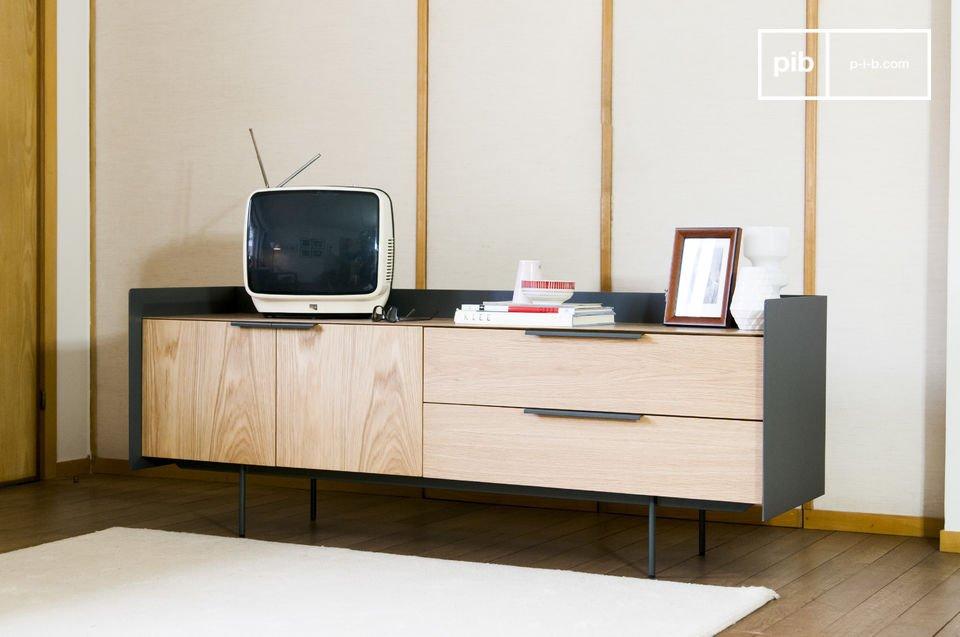 Het Jackson tv meubel hout is een praktisch meubelstuk
