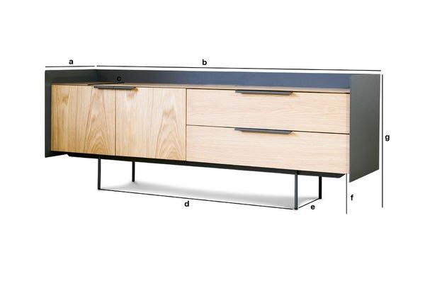 Productafmetingen Jackson Tv meubel