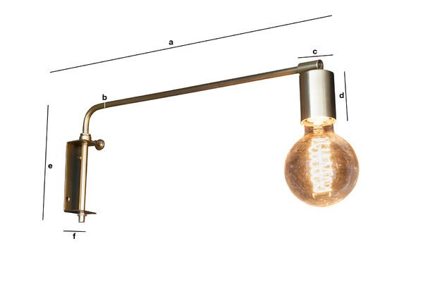 Productafmetingen Janika wandlamp