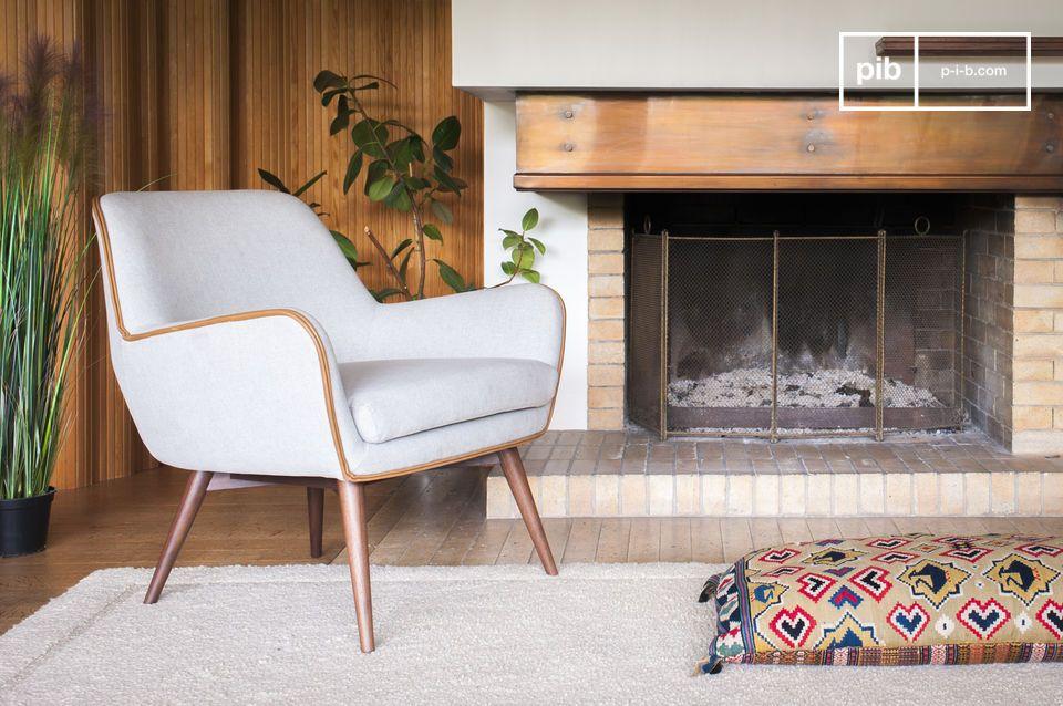 Een lichte en slanke stoel met een evenwichtige esthetiek