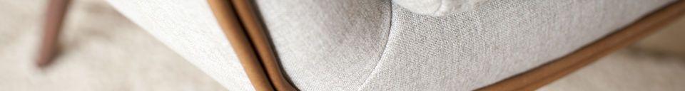 Benadrukte materialen Järvi Stoffen armstoel