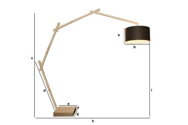 Productafmetingen Jayjay vloerlamp