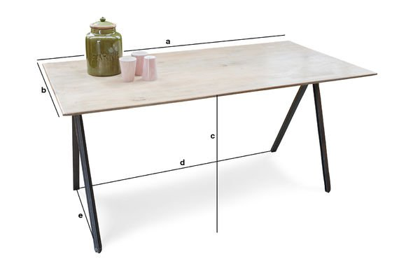 Productafmetingen Jetson tafel