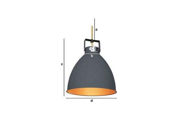 Productafmetingen Jieldé Augustin hanglamp 24cm