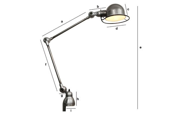 Productafmetingen Jieldé Loft lamp met klem