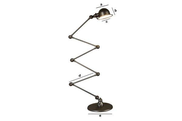 Productafmetingen Jieldé loft vloerlamp