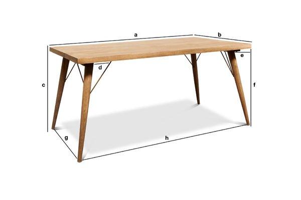 Productafmetingen Jotün houten tafel