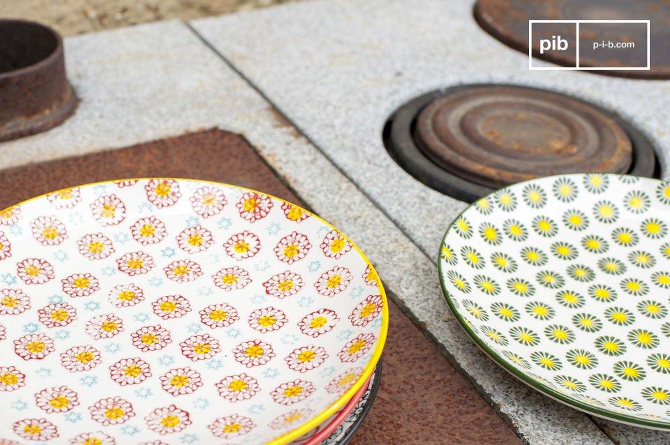 De 4 borden hebben allemaal een anders design en kleuren