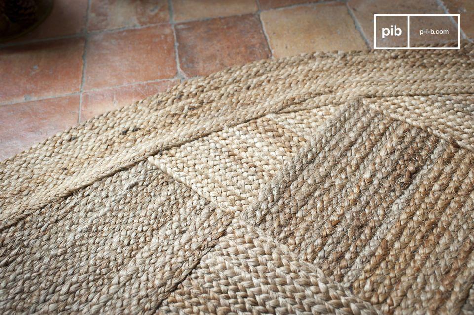 Groot formaat met een Scandinavische look, gemaakt van 100% natuurlijke jute vezel