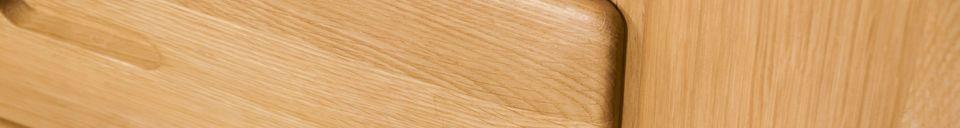 Benadrukte materialen Kadrell eiken dressoir