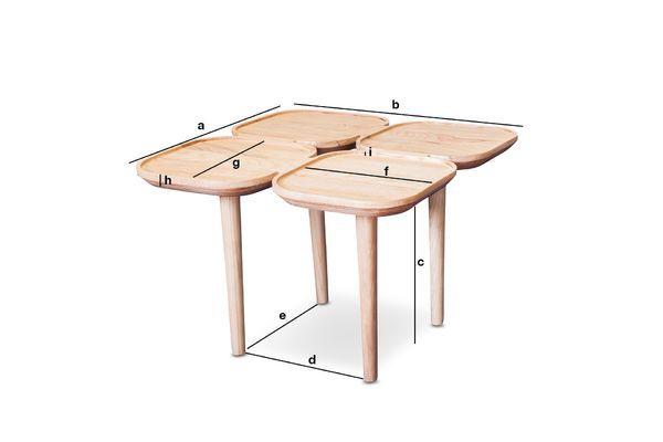 Productafmetingen Kädri houten bijzettafel
