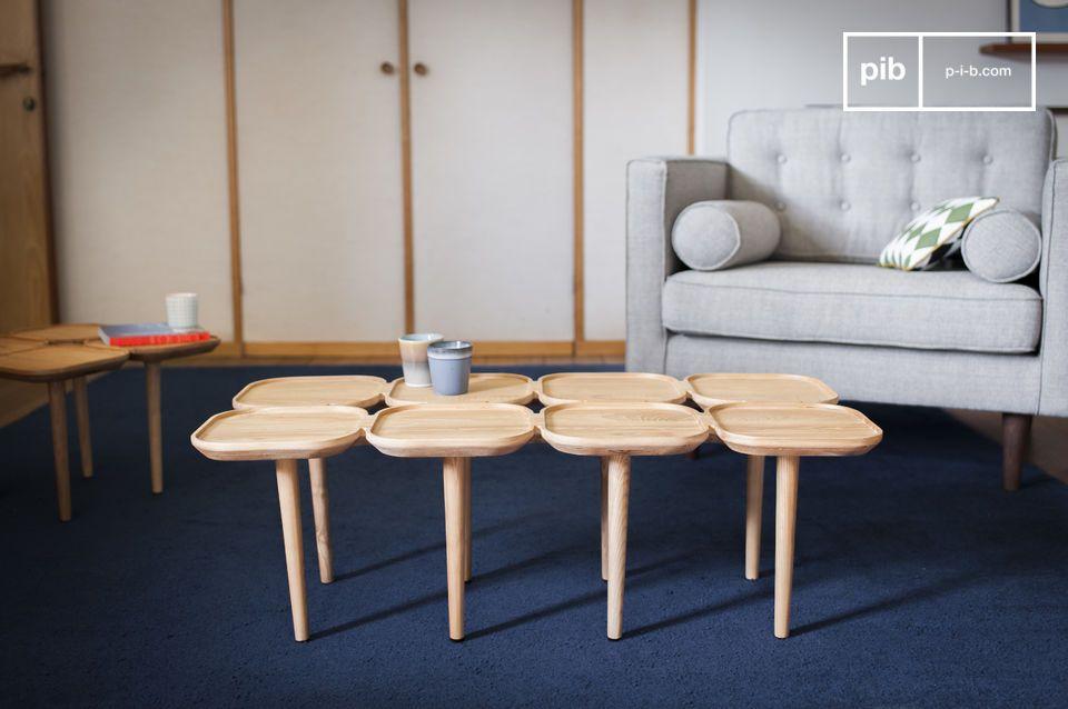 Een originele salontafel met meerdere bladen