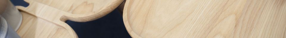 Benadrukte materialen Kädri houten salontafel