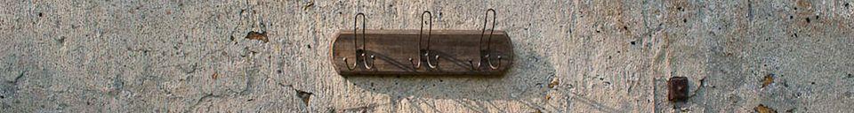 Benadrukte materialen Kapstok met drie haken