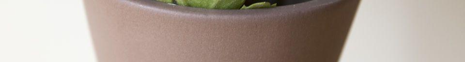 Benadrukte materialen Keramische Corset Vaas Mocha mat