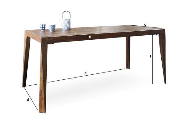 Productafmetingen Kitell tafel