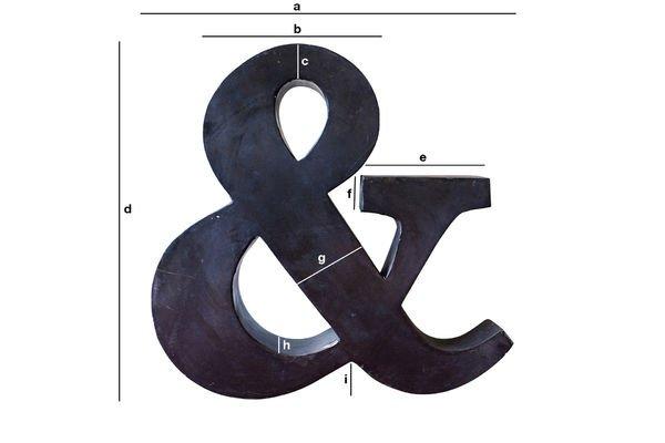 Productafmetingen Kleine Ampersand