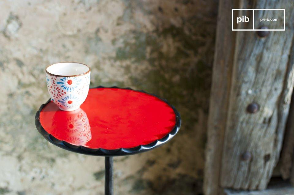 De charme van een rond meubelstuk met prachtige kleuren
