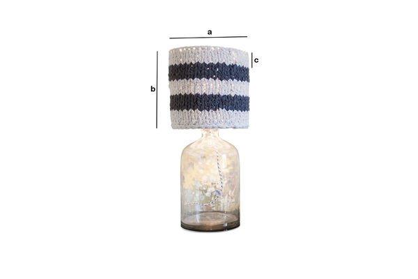 Productafmetingen Kleine grijze Paimpol lampenkap