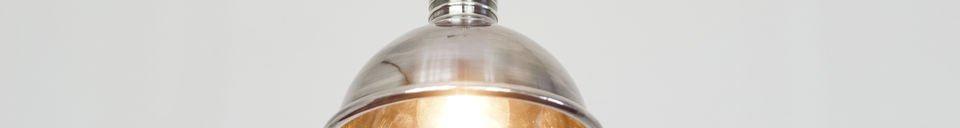 Benadrukte materialen Kleine zilveren hanglamp