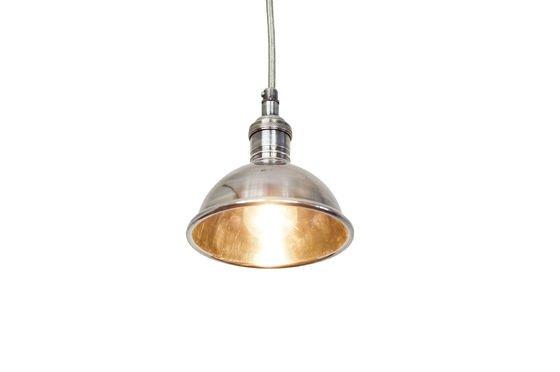 Kleine zilveren hanglamp Productfoto