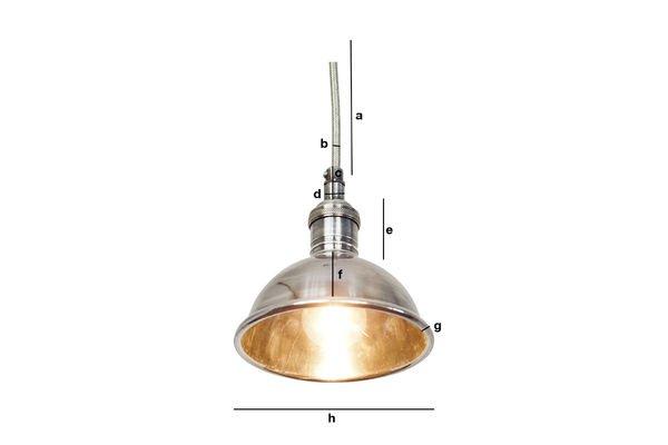 Productafmetingen Kleine zilveren hanglamp