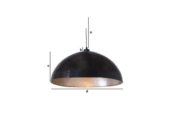 Productafmetingen Komais metalen hanglamp