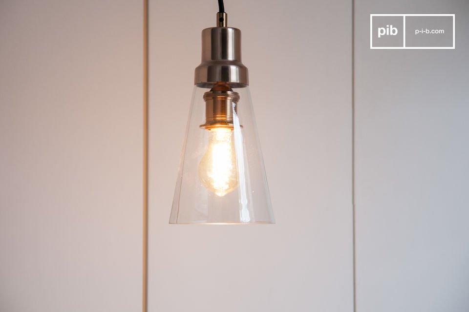 Hanglamp Meerdere Lampen : Konisk hanglamp koperen metalen en glazen kegel pib