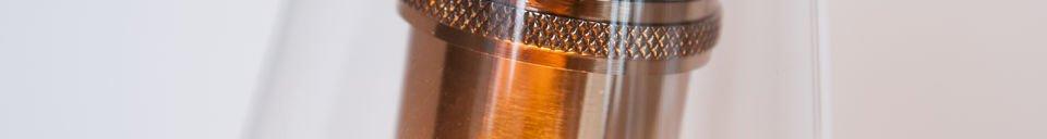 Benadrukte materialen Konisk hanglamp