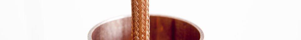 Benadrukte materialen Koperen NUD hanglamp