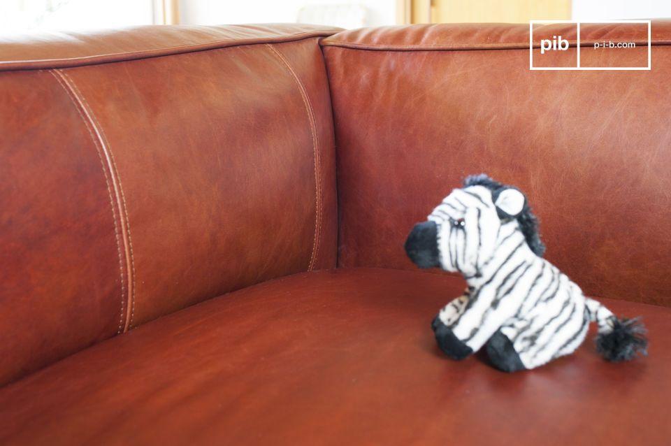 Woonkamer Vintage Bank : Krieger 2 zetel vintage bank vintage leren sofa pib