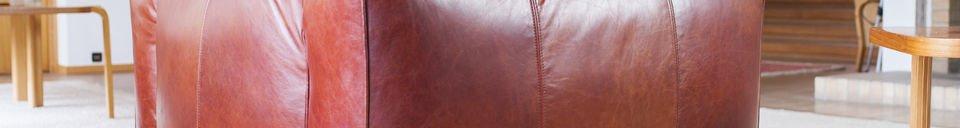 Benadrukte materialen Krieger vintage fauteuil