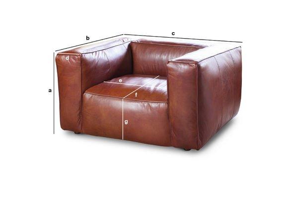Productafmetingen Krieger vintage fauteuil