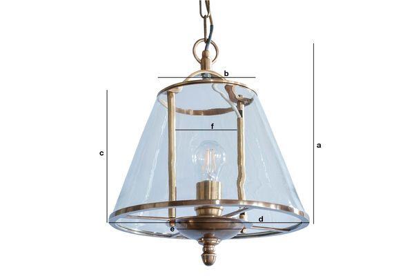 Productafmetingen Lacanau glazen hanglamp