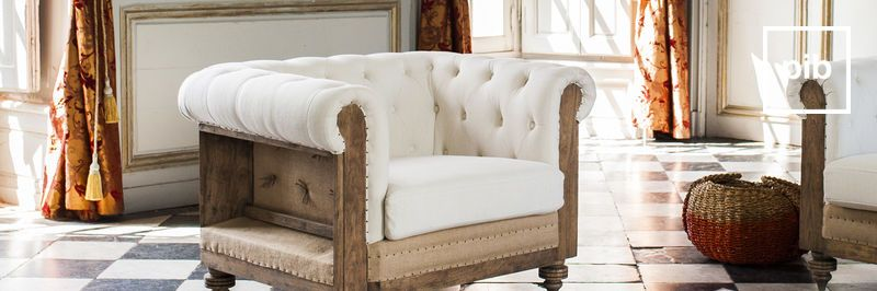 Landelijke fauteuils en stoelen in Shabby chic stijl