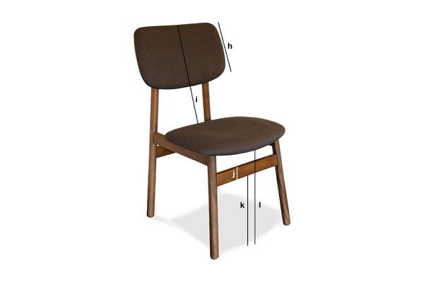 Productafmetingen Larssön stoel