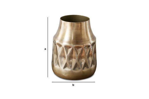 Productafmetingen Layti koperen vaas