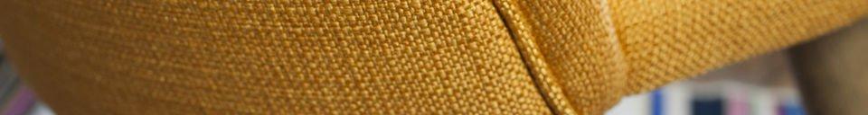 Benadrukte materialen Lear mosterd stoel