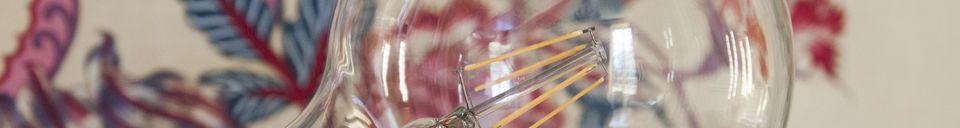 Benadrukte materialen Led lamp 13cm met vintage gloeidraad