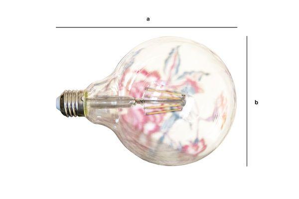 Productafmetingen Led lamp 13cm met vintage gloeidraad