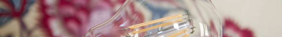 Benadrukte materialen Ledlamp 6cm met vintage gloeidraad