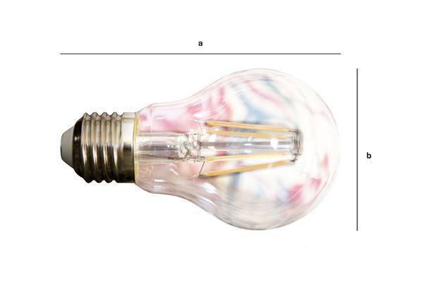 Productafmetingen Ledlamp 6cm met vintage gloeidraad