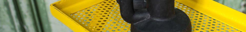 Benadrukte materialen Leffie metalen opslagrek