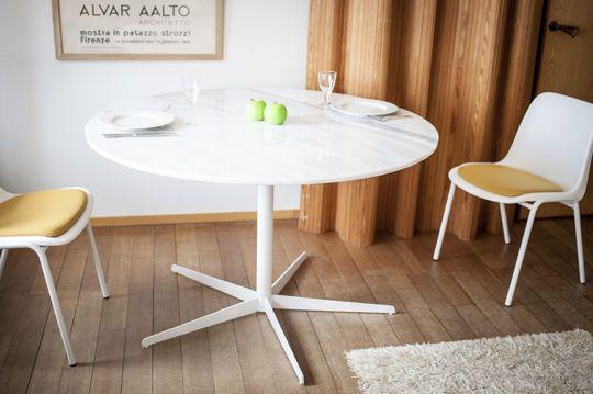 Lemvig wit marmer ronde tafel
