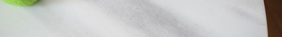Benadrukte materialen Lemvig wit marmer ronde tafel