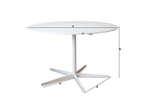 Productafmetingen Lemvig wit marmer ronde tafel