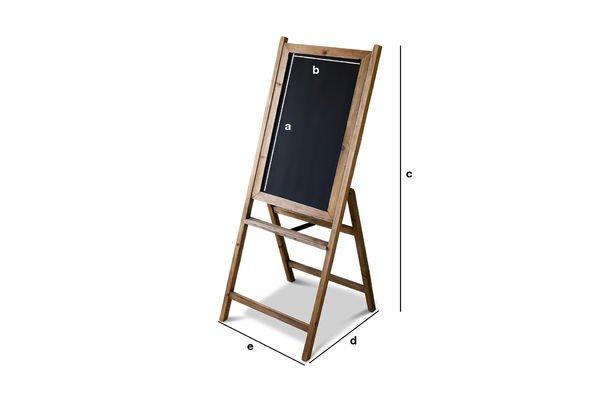 Productafmetingen Leon houten krijtbord